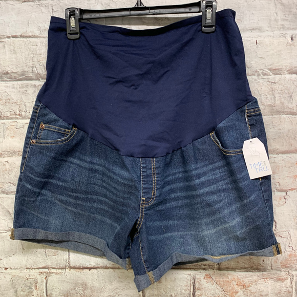 Time & Tru Pants - Time & Tru Womens Maternity Jean Shorts XL 16-18